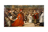 Cardinal Wolsey  Chancellor of England  on His Progress to Westminster Hall  1887