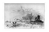 Canal Pres Rotterdam  (Canal Near Rotterda) C1830-1890