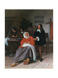A Man Offering an Oyster to a Woman  C1660-1665