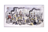 View of Hyde Park That Satirises the Advent of the Steam Locomotive  London  C1850