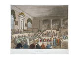 Interior View of the Sessions House  Old Bailey  with a Court in Session  City of London  1809