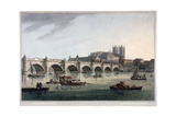 Westminster Bridge  Westminster Abbey and Westminster Hall  London  1789