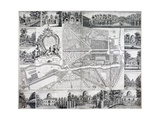 Map of Chiswick in the London Borough of Hounslow  1736