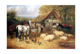 Farmyard Scene  (C1840-C1900)
