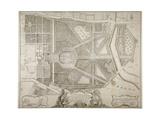 Plan of Kensington Palace and Gardens  London  1736