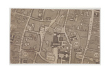 Plan of Guildhall and the Neighbourhood around Guildhall  London  1747