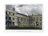 The Quadrangle of Jesus College  Oxford University  C1830S