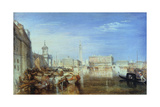 Bridge of Sighs  Ducal Palace and Custom-House  Venice: Canaletti Painting  1833