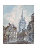 Oxford: St Mary's from Oriel Lane  1792-1793