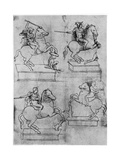 Studies for the Sforza Monument  C1488-1493