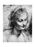 The Head of the Madonna, 15th Century (1930) Giclée par Leonardo Da Vinci