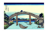 Under Mannen Bridge at Fukagawa' (From a Series 36 Views of Mount Fuj)  1830-1833