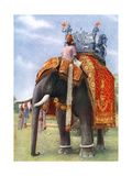 A Majestic Elephant at Bengal's Chief Festive Gathering  India  1922