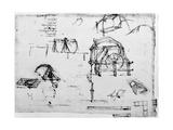 Sketch of a Perpetual Motion Device Designed by Leonardo Da Vinci, C1472-1519 Giclée par Leonardo Da Vinci