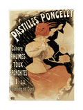 Advertising Poster for Pastilles Poncelet  a Cold and Bronchitis Remedy  1896