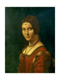 Portrait of an Unknown Woman (La Belle Ferronier), C1490 Giclée par Leonardo Da Vinci