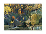 Décor for Debussy's Ballet L'Apres-Midi D'Un Faune (The Afternoon of a Fau), 1912 Giclée par Leon Bakst
