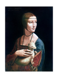 Portrait of Cecilia Gallerani, Lady with an Ermine, C1490 Giclée par Leonardo Da Vinci