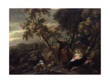 Rest on the Flight into Egypt  17th Century