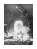 British Air Bombardment over the German Lines  World War I  1914-1918