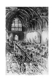 The Workmen in Possession  Westminster Hall  London  1910