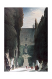 The Garden of the Villa D'Este  1830