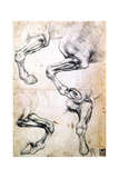 Four Studies of Horses' Legs  C1500