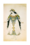 The Tsarevna  Costume Design for the Ballets Russes Production of Stravinsky's the Firebird  1910