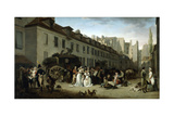 The Arrival of a Stagecoach at the Terminus  Rue Notre-Dame-Des-Victoires  Paris  1803