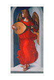 An Angel in Red with a Lute  1490-1499