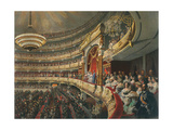 Auditorium of the Bolshoi Theatre  Moscow  Russia  1856
