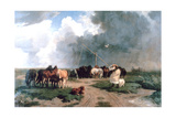 Horses in the Storm  1862