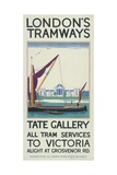 Tate Gallery  London County Council (LC) Tramways Poster  1925