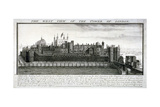 West View of the Tower of London  with a Description  1737