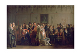 Reunion of Artists in the Studio of Isabey  1798