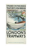 Strand on the Green  Tram 26 to Kew Bridge  London County Council (LC) Tramways Poster  1924