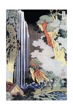 Ono Waterfall Along the Kisokaido  C1780-1849