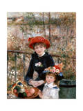 Two Sisters (On the Terrac), 1881 Giclée par Pierre-Auguste Renoir