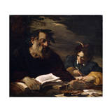 Homer Dictating His Poems  17th Century