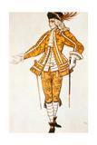 Page De La Fee Des Canaris  Costume Design for Tchaikovsky's Ballet Sleeping Beauty  1921