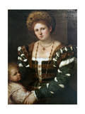 Portrait of a Lady with Her Son  Mid-1530S