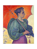 Woman with Umbrella  1898