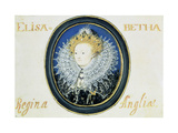 Miniature of Elizabeth I (1533-160) Queen of England and Ireland (1558-160)