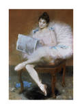 Sitting Ballet Dancer  1890