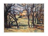 House Behind Trees on the Road to Tholonet, C1885 Giclée par Paul Cézanne