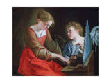 St Cecilia and an Angel  C1617-1618 and C1621-1627
