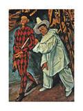 Arlequin Et Pierrot  1888