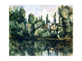 The Banks of the Marne, Villa on the Bank of a River, C1888 Giclée par Paul Cézanne