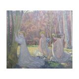 Figures in a Spring Landscape (Sacred Grov)  1897