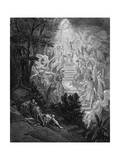 Jacob's Dream of a Stairway Leading to Heaven with God at the Top  1865-1866